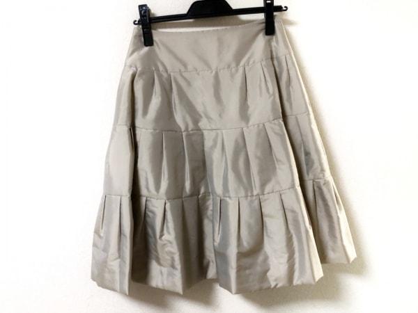 FOXEY(フォクシー) スカート サイズ40 M レディース美品  ベージュ
