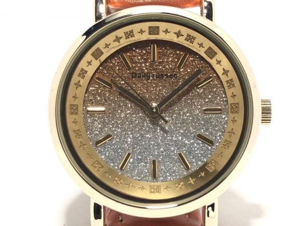 Daily russet(デイリーラシット) 腕時計美品  レディース シルバー×ゴールド
