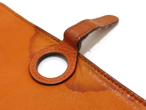 HERMES(エルメス) 長財布 ドゴンGM オレンジ シルバー金具 トリヨンクレマンス