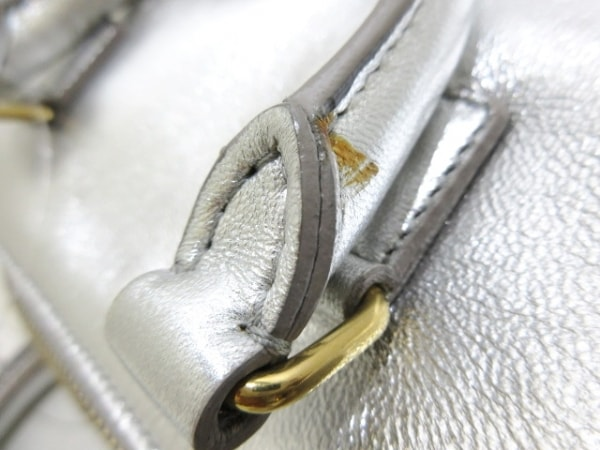 サンローランパリ ハンドバッグ ダッフルトイ 340238 シルバー レザー