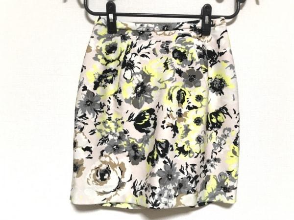 フレイアイディー ミニスカート サイズ0 XS レディース美品  ピンク×黒×マルチ 花柄
