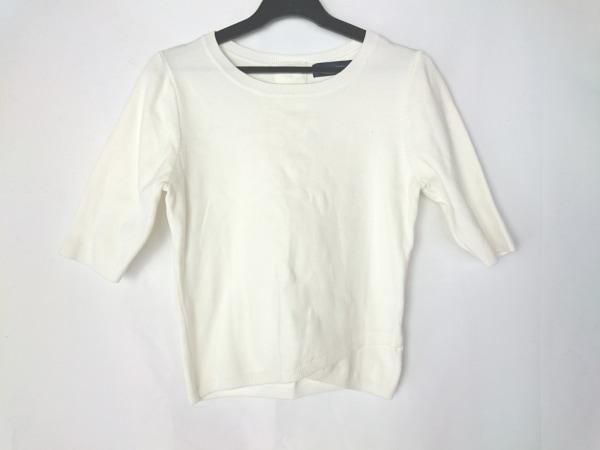 JUSGLITTY(ジャスグリッティー) 七分袖セーター サイズ2 M レディース アイボリー