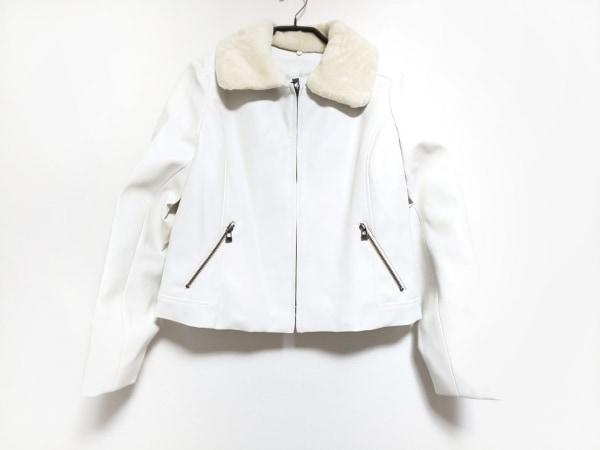RULe(ルール) ブルゾン サイズL レディース 白×アイボリー 冬物