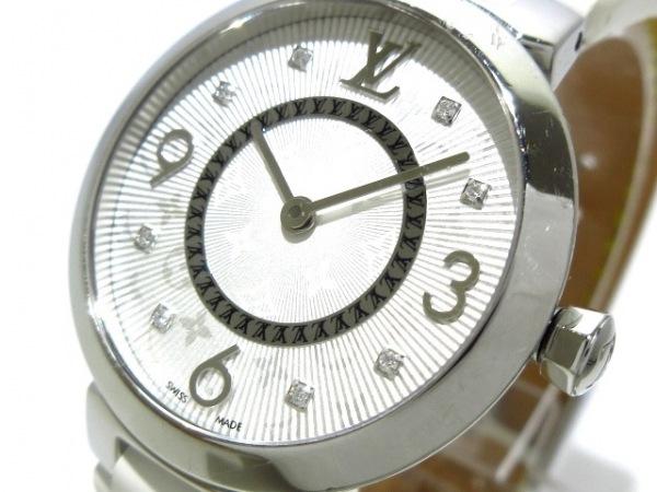 buy online 30acd d1652 ヴィトン 腕時計 タンブールモノグラムPM Q12MG レディース 8Pダイヤ 白