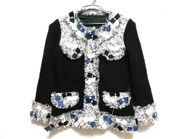 NOKO OHNO(ノコオーノ) ジャケット サイズ38 M レディース美品  黒×白×マルチ