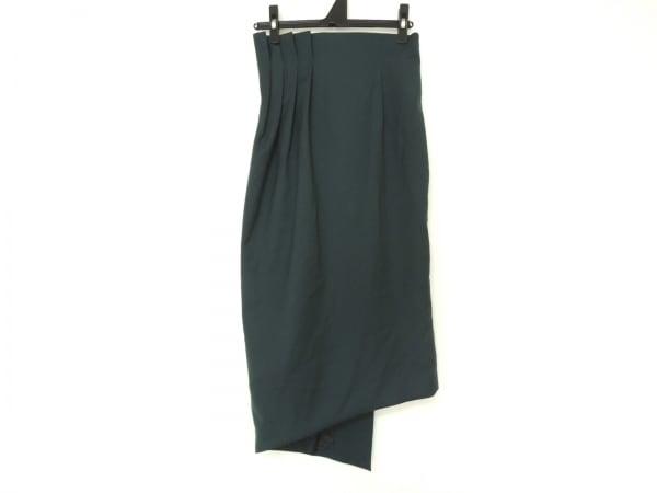 AULA(アウラ) ロングスカート サイズ0 XS レディース美品  グリーン