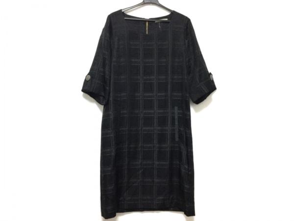 ガリャルダガランテ ワンピース サイズF レディース - - 黒 七分袖/ひざ丈/チェック柄