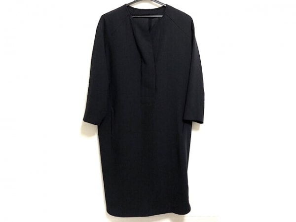 プレインピープル ワンピース サイズ3 L レディース - - ダークネイビー 長袖/ひざ丈