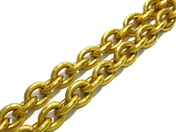 CHANEL(シャネル) ネックレス 金属素材×ガラス ゴールド×グリーン ベル