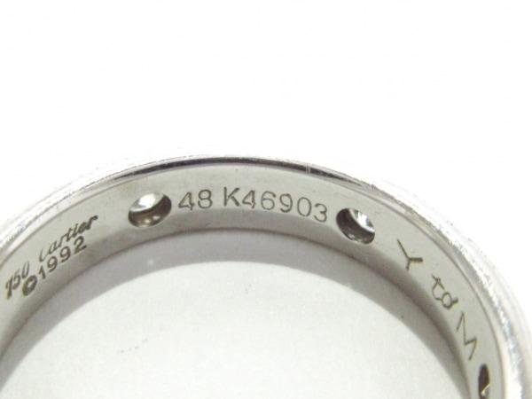 Cartier(カルティエ) リング 48 ステラリング K18WG×ダイヤモンド 6Pダイヤ