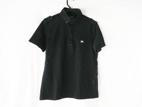 BURBERRYGOLF(バーバリーゴルフ) 半袖ポロシャツ サイズM メンズ美品  黒