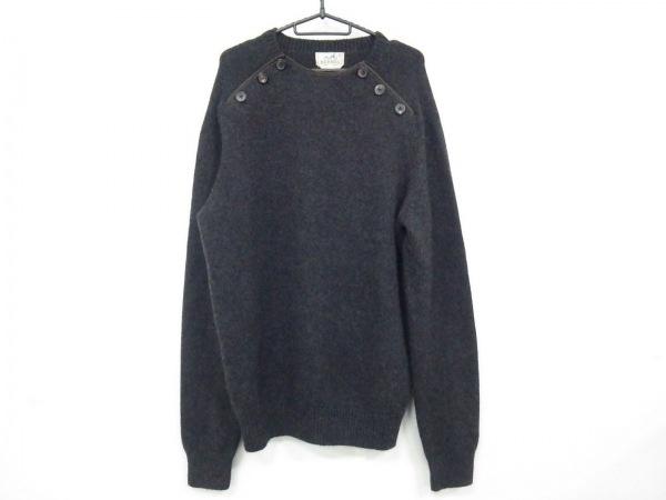 HERMES(エルメス) 長袖セーター サイズXL メンズ ダークグレー