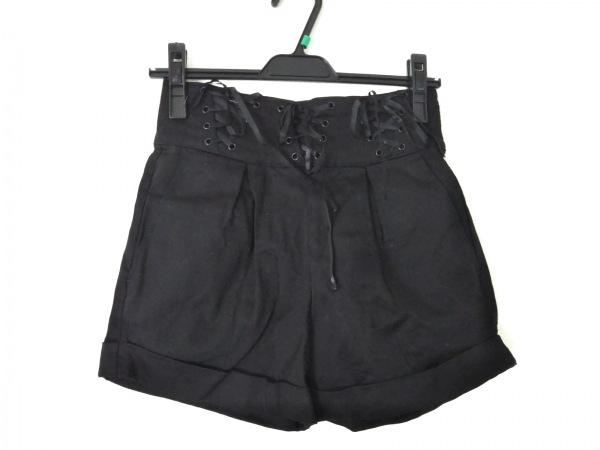 キャンディストリッパー ショートパンツ サイズXS レディース 黒 編み上げ