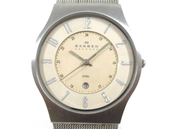 SKAGEN(スカーゲン) 腕時計美品  233XLSS ボーイズ アイボリー