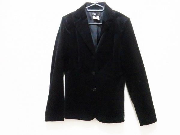 INDIVI(インディビ) ジャケット サイズ40 M レディース 黒 ベロア