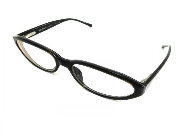 シャネル メガネ 3015 クリア×ダークブラウン×黒 ココマーク/度入り プラスチック