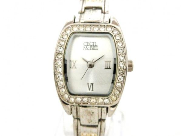 CECILMcBEE(セシルマクビー) 腕時計 - レディース ラインストーンベゼル シルバー