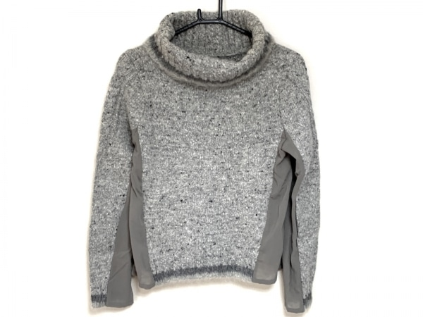 ジェーンマープル 長袖セーター サイズM レディース美品  ライトグレー×ダークグレー