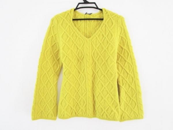 aA(アルファエー) 長袖セーター サイズ40 M レディース イエロー