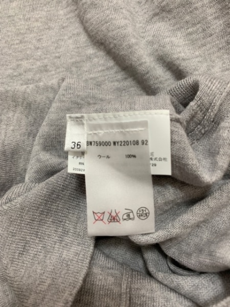 JILSANDER(ジルサンダー) 長袖セーター サイズ36 S レディース美品  ライトグレー