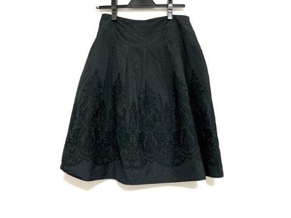 TOMORROWLAND(トゥモローランド) スカート サイズ1 S レディース美品  黒 刺繍