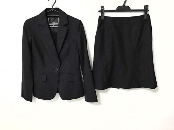 Le souk(ルスーク) スカートスーツ サイズ36 S レディース美品  黒 ストライプ