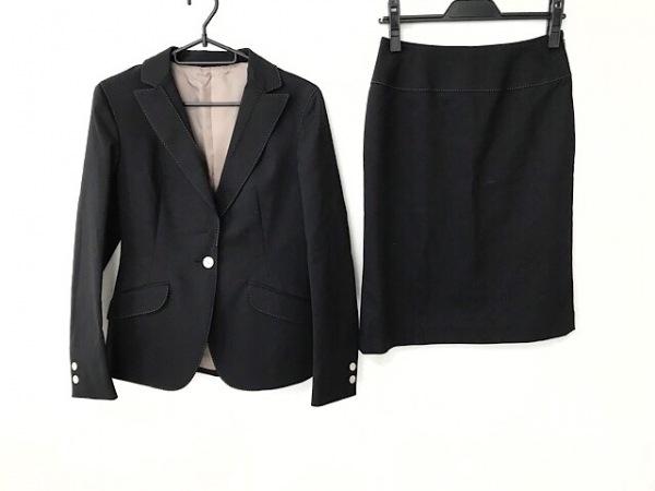 ユナイテッドアローズ スカートスーツ サイズ36 S レディース 黒×ライトグレー