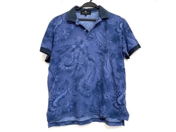 ETRO(エトロ) 半袖ポロシャツ サイズS メンズ美品  ブルー