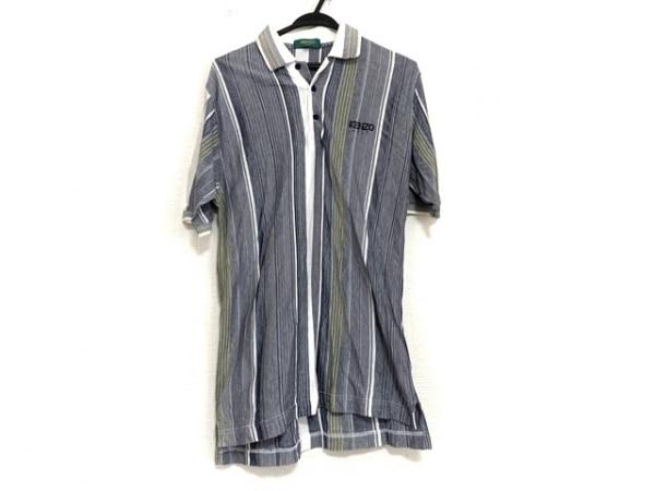 KENZO(ケンゾー) 半袖ポロシャツ サイズ3 L メンズ ブルー×マルチ
