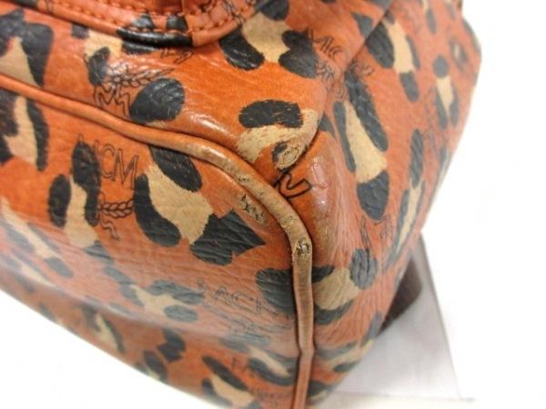MCM(エムシーエム) リュックサック ブラウン×ベージュ×ダークブラウン 豹柄 合皮