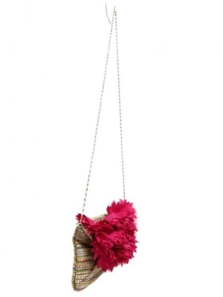 ジルスチュアート ショルダーバッグ ピンク×マルチ チェーンショルダー/ミニサイズ