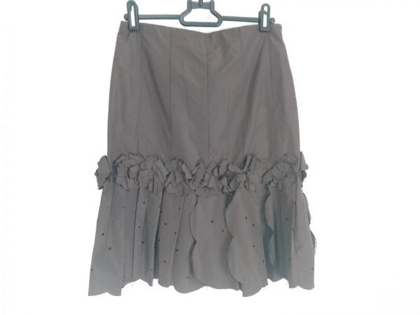 アンナモリナーリ スカート サイズI 38 レディース美品  ダークブラウン スパンコール