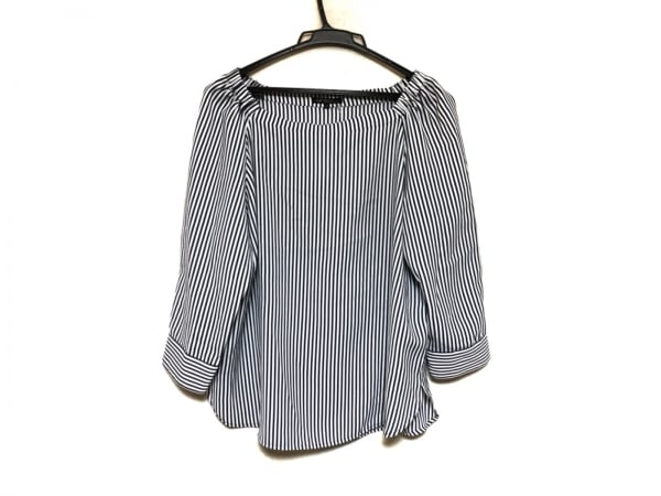 23区(ニジュウサンク) 長袖カットソー サイズ40 M レディース美品  白×ネイビー