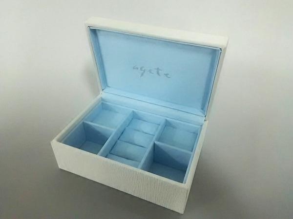 agete(アガット) 小物美品  アイボリー アクセサリケース 化学繊維