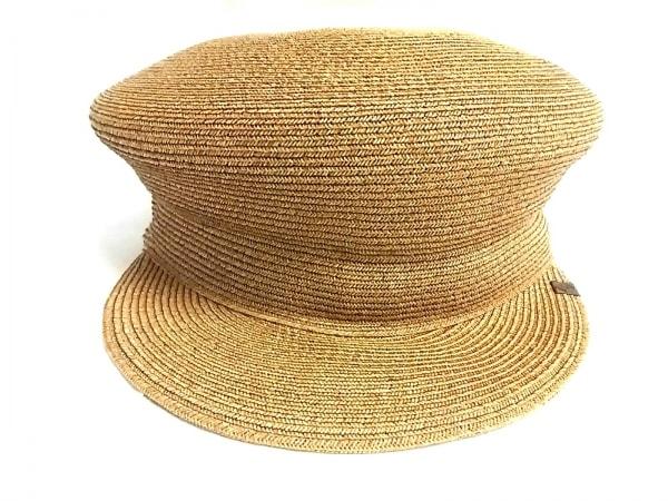 CA4LA(カシラ) 帽子美品  ブラウン×黒 ペーパー×ポリエステル