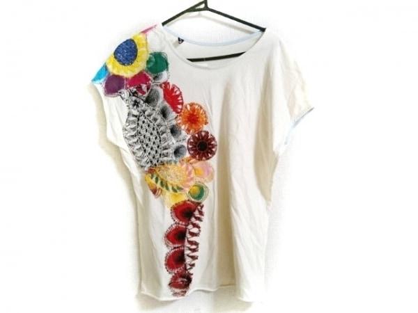 ホォアナ デ アルコ 半袖Tシャツ レディース アイボリー×レッド×マルチ