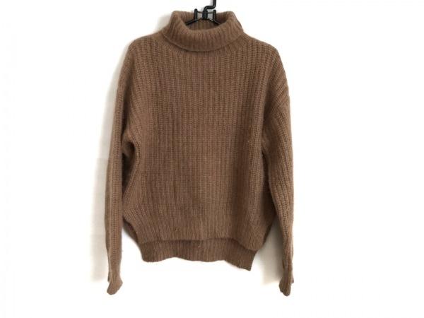 トゥデイフル 長袖セーター サイズ38 M レディース ライトブラウン タートルネック