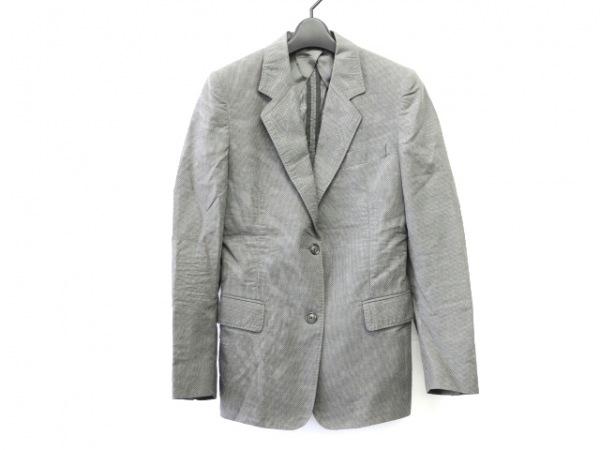 マルタンマルジェラ ジャケット サイズ36 S レディース グレー×アイボリー