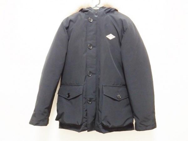 DANTON(ダントン) ダウンジャケット メンズ美品  黒 ジップアップ/冬物