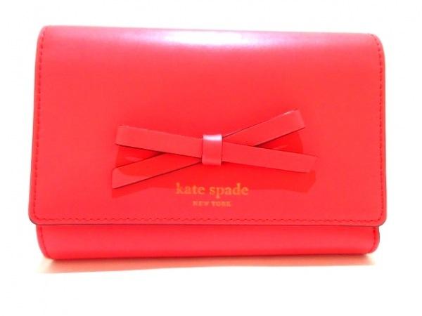 ケイトスペード 3つ折り財布 ソーヤー ストリート ウォレット WLRU2329 ピンク リボン