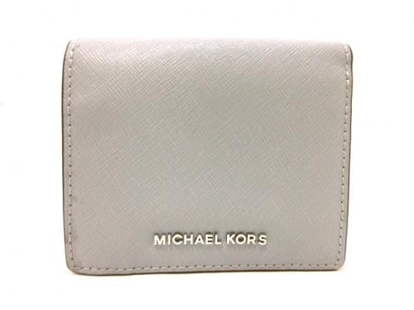 MICHAEL KORS(マイケルコース) 2つ折り財布 ライトブルー レザー