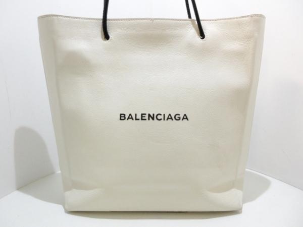 バレンシアガ ショルダーバッグ ノースサウス ショッピングバッグ 482545 白×黒
