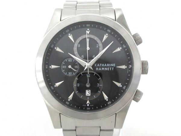 キャサリンハムネット 腕時計 KH-2061 メンズ クロノグラフ 黒×シルバー