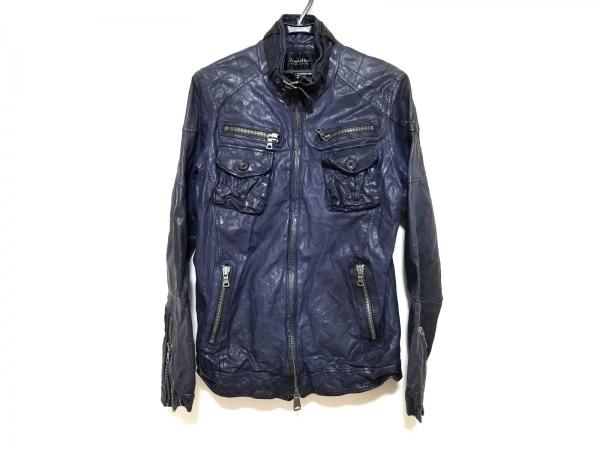 TORNADO MART(トルネードマート) ライダースジャケット サイズL メンズ ネイビー 冬物