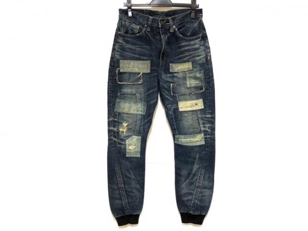 glamb(グラム) パンツ サイズ1 S メンズ ネイビー デニム/ダメージ加工