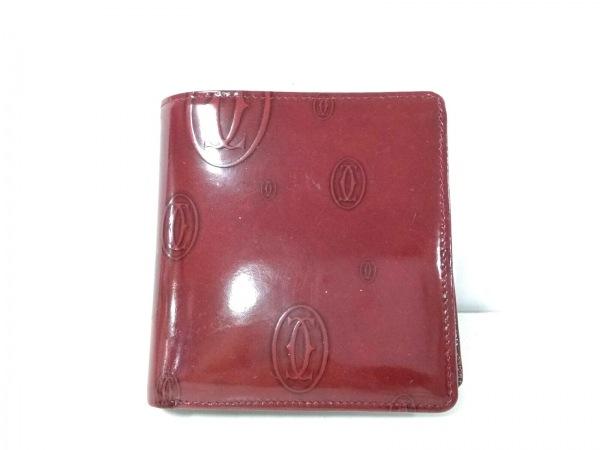 Cartier(カルティエ) 2つ折り財布 ハッピーバースデー ボルドー エナメル(レザー)
