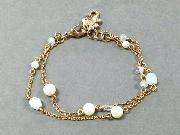 ANNA SUI(アナスイ) ブレスレット美品  金属素材×フェイクパール ゴールド