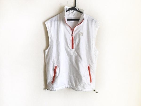 PICONE(ピッコーネ) ブルゾン サイズ3 L メンズ 白×オレンジ 春・秋物