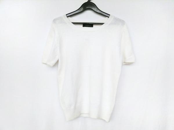 JUSGLITTY(ジャスグリッティー) 半袖セーター サイズ2 M レディース アイボリー