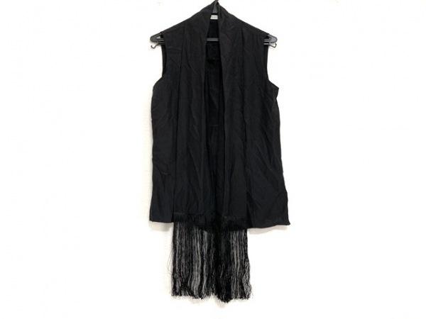 PRADA(プラダ) ノースリーブシャツブラウス サイズ40 M レディース美品  黒 シルク